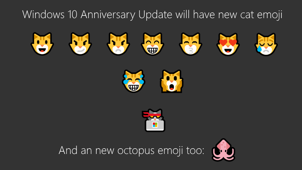 New Windows 10 Emoji