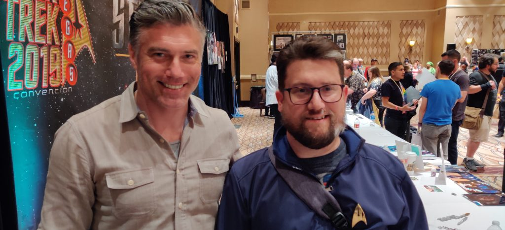 I also got to meet Anson Mount who played Captain Pike in the second season of Star Trek: Discovery.