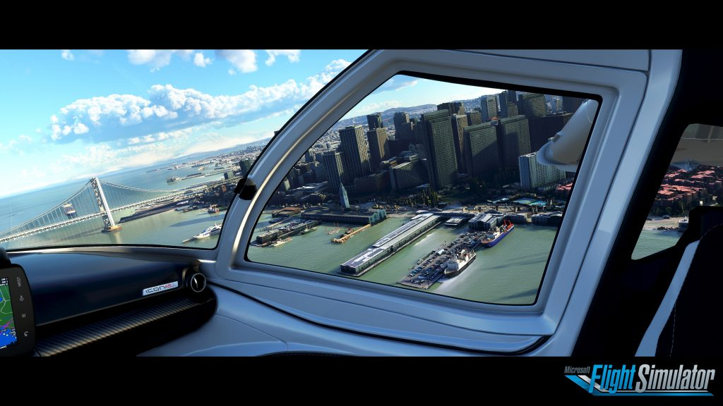 Screenshot of gameplay in the new Microsoft Flight Simulator.